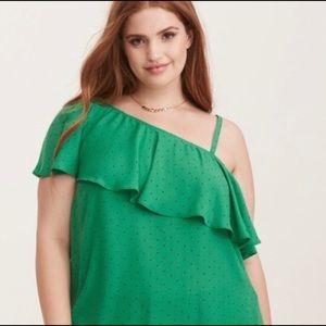 NWT Torrid Multi Wear Green Blouse Size 0